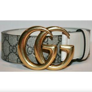 Gucci GG Marmont GG Supreme Canvas Belt